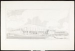 Architectural sketch of Huntington Village Shopping Center, by Carl Maston, [s.d.]