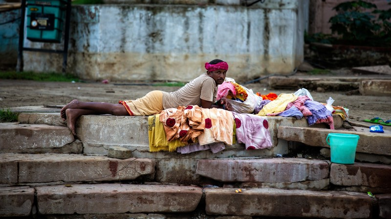 A Rest From Duties, Varanasi, India