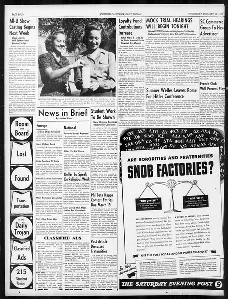 Daily Trojan, Vol. 31, No. 93, February 28, 1940