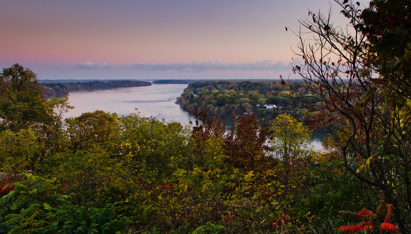 Niagara river from Queenston Heights Park