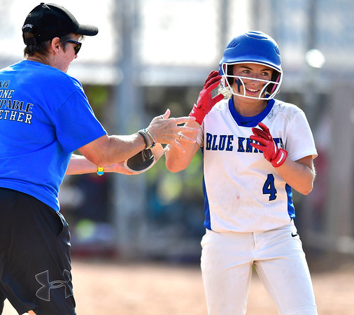 6/8/2019 Mike Orazzi | Staff Southington's Nicole Greco (4) during Saturday's Class LL Softball Final at DeLuca Field in Stratford.