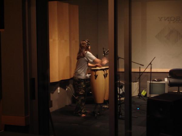 2005-11-27 High Tide Recording Tracks in the Studio