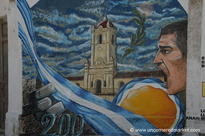 Street Art and Argentine Flags