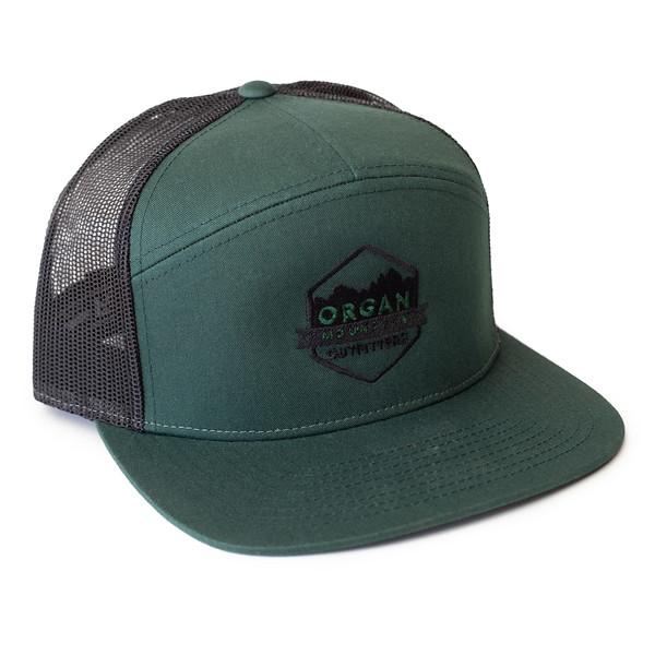 Organ Mountain Outfitters - Outdoor Apparel - Hat - 7 Panel Trucker Cap - Forest Green Black.jpg