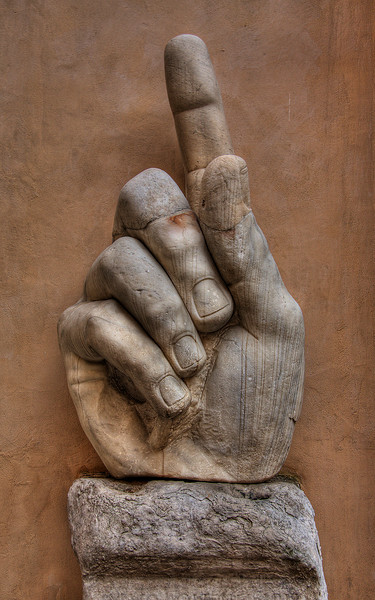 The Hand of Constantine at the Capitoline Museum (HDR Image)