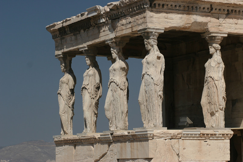 Athens, Greece; Erechtheion at the Acropolis