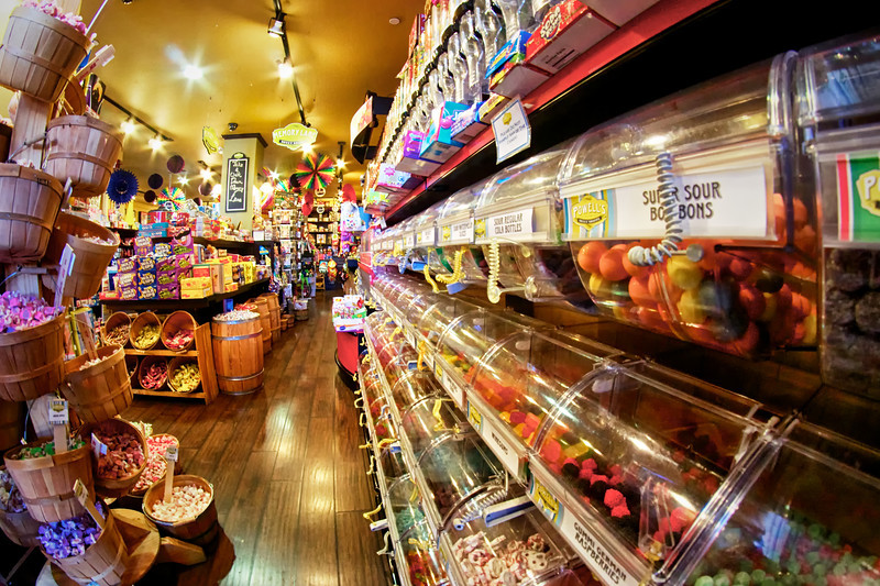 Kid in a candy store - Powell's Sweet Shoppe