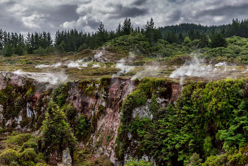 Auf dem «Craters of the Moon Geothermal Walk»