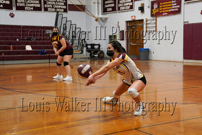 Volleyball Mt Hope at Tiverton on 3/23/21