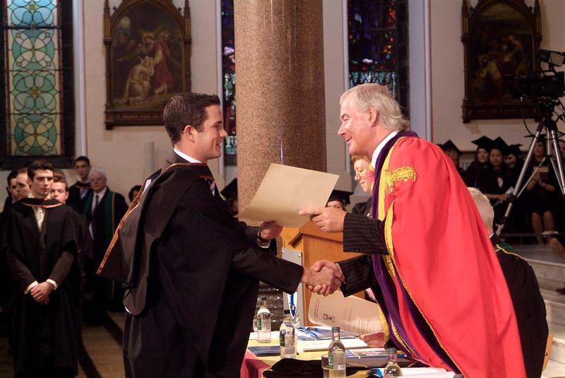 Clancy Bowe, Tramore, Co. Waterford receives his BA (Hons) in Accounting from Prof. Kieran R. Byrne, Director, Waterford Institute of Technology. (pic-photozone)