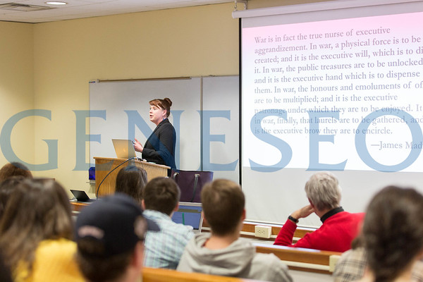 PolySci Guest Speaker (Photos by Annalee Bainnson)