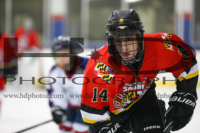 Sabres Rec Red vs Ice Dogs, Bantam 14U 1-14-17