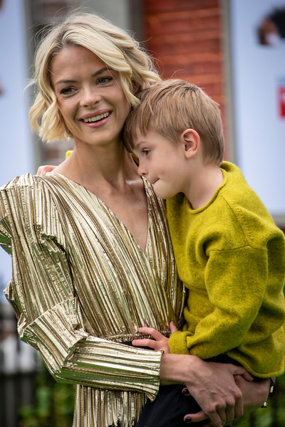 WESTWOOD, CALIFORNIA - JUNE 02: Jaime King and son Leo Thames Newman attend the Premiere of Universal Pictures' 'The Secret Life Of Pets 2' at Regency Village Theatre on Sunday, June 02, 2019 in Westwood, California. (Photo by Tom Sorensen/Moovieboy Pictures)