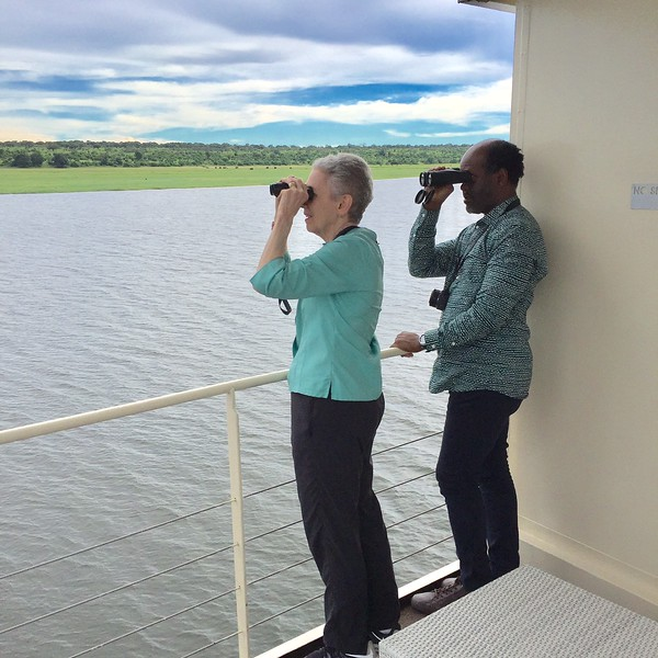 Spotting wildlife on the Chobe River- Kristin Appelget