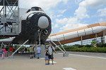 Urlaub 2009, Florida Unser 2. Startversuch für STS 127. Wir schaffen es bis zum VIP Startbereich des Kennedy Space Center, T-9 wird der Countdown abgebrochen, da eine heftige Gewitterwand h ...