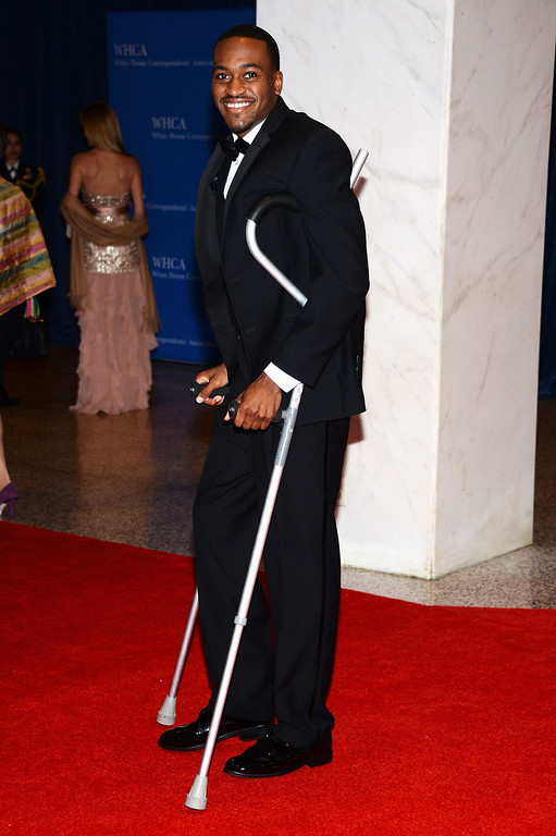 . WASHINGTON, DC - APRIL 27:  Kevin Ware attends the White House Correspondents\' Association Dinner at the Washington Hilton on April 27, 2013 in Washington, DC.  (Photo by Dimitrios Kambouris/Getty Images)