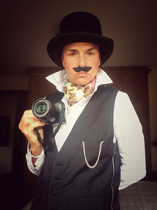 Image by Steve McDonald - dressed up as an Edwardian photographer for a community event