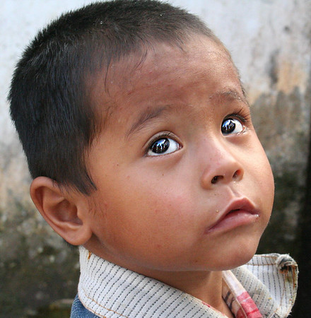 Young boy in Nepal.