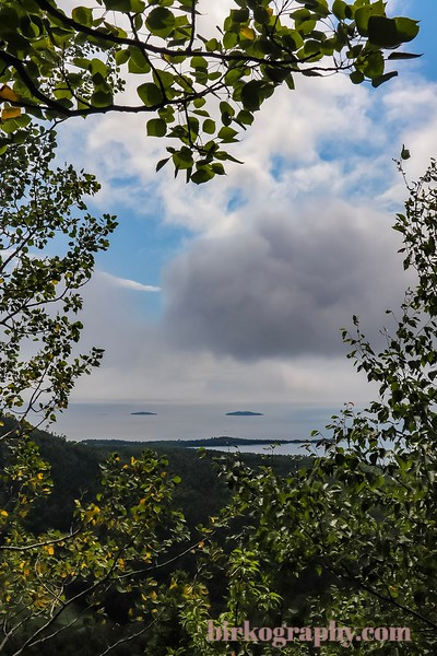 Half of Tee Harbor through the trees.  Sleeping Giant Provincial Park, ON, Canada
