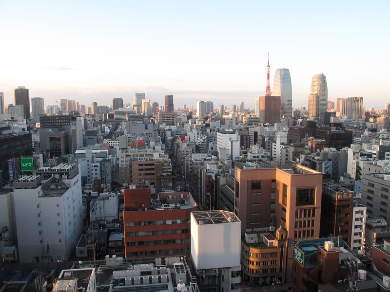 From the 17th Floor of the Dai-Ichi Hotel, Tokyo