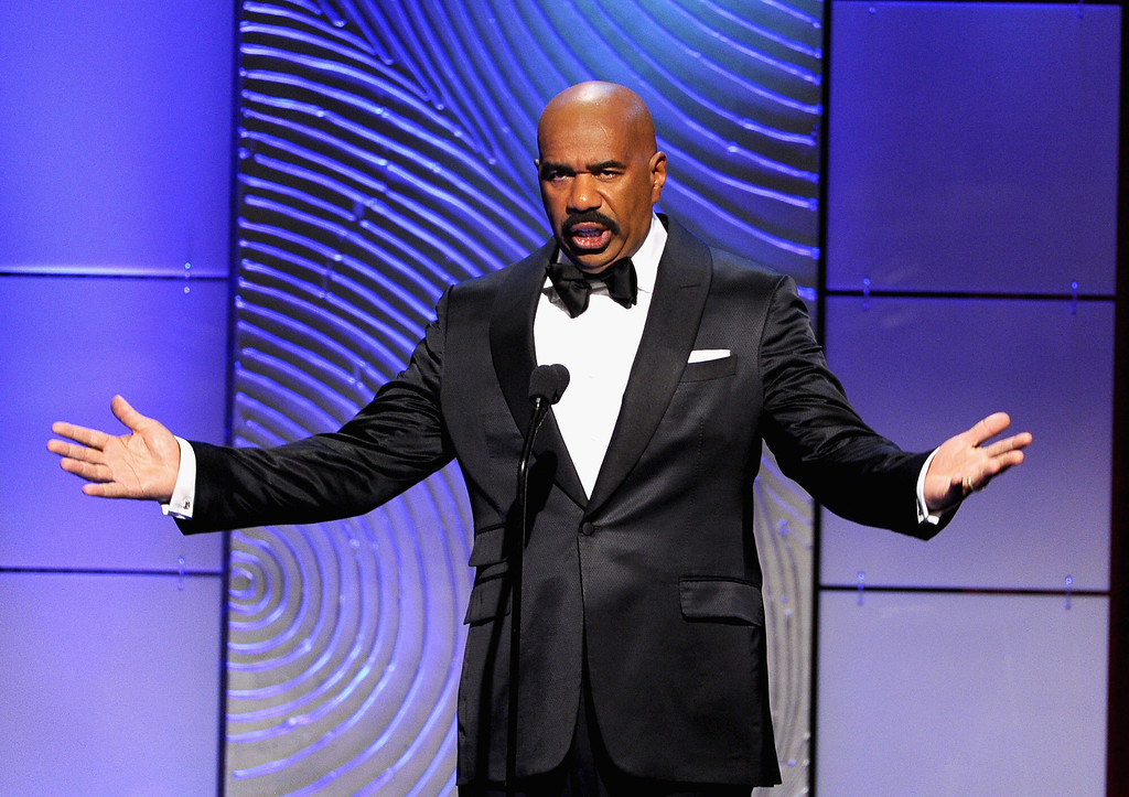 . Actor/comedian Steve Harvey speaks onstage during The 40th Annual Daytime Emmy Awards at The Beverly Hilton Hotel on June 16, 2013 in Beverly Hills, California.  (Photo by Kevin Winter/Getty Images)