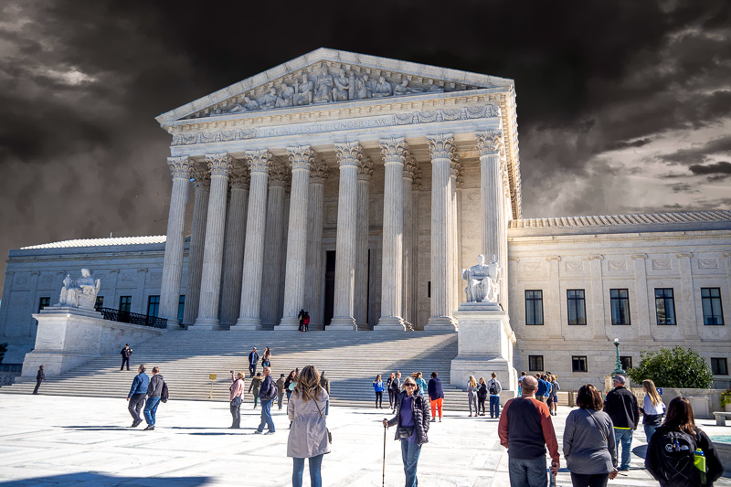 October 18 - Dark clouds gathering over the United States Supreme Court, Washington, D. C.jpg