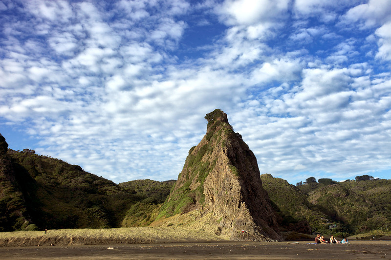 The Watchman Rock at Karekeri Beach on the west coast of Auckland