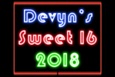 Devyn's Sweet 16 - September 29, 2018