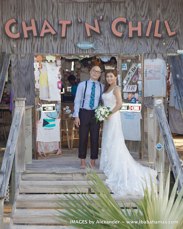Kim & Otomo | Destination Wedding | Chat 'n' Chill,  Exuma , Bahamas.