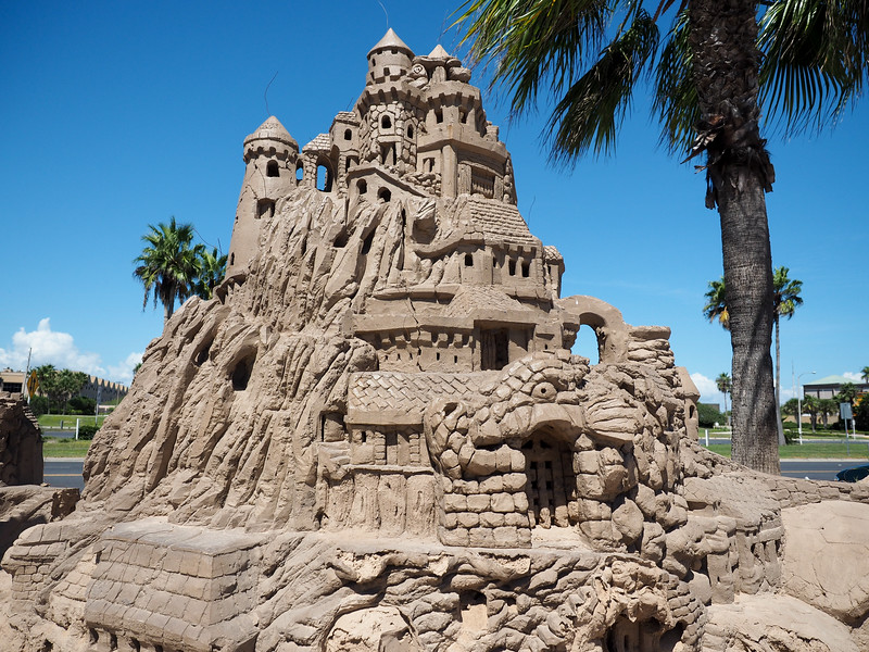 Huge sand castle on South Padre Island