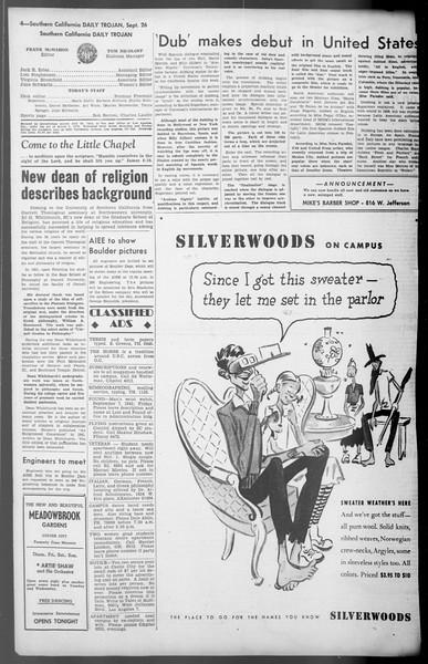 Daily Trojan, Vol. 36, No. 208, September 26, 1945