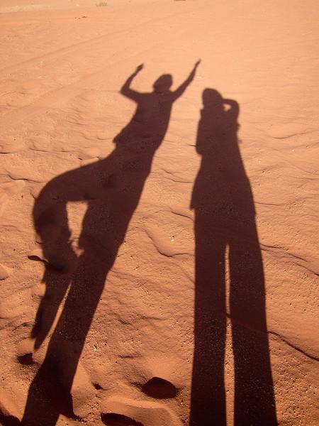 The sands of Wadi Rum Desert.