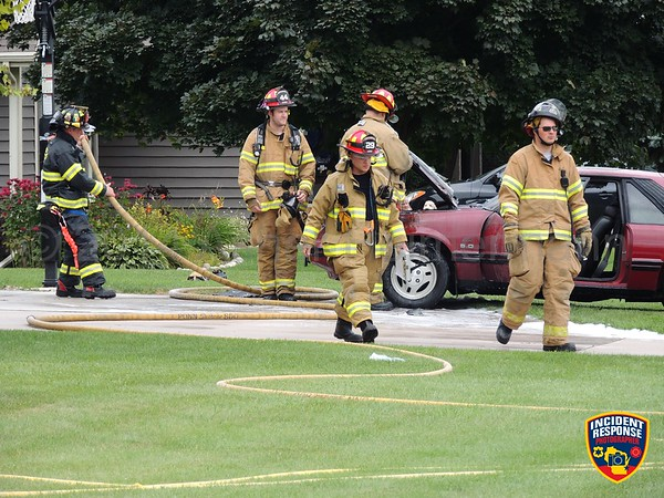 Vehicle fire on August 17, 2014