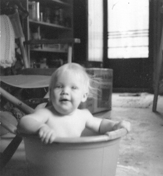 Nate's in a tub, rubadubdub,8-74.jpg