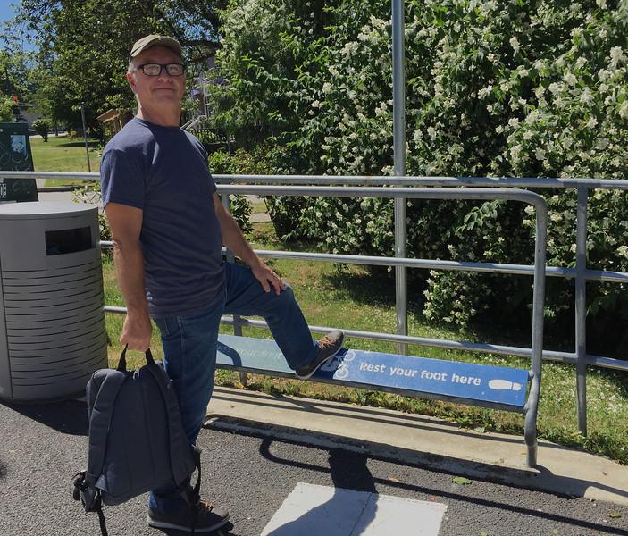 Bryan doing like the sign said