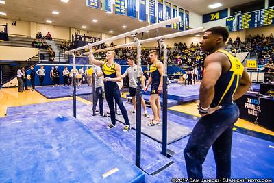 Parallel Bars - Michigan Men's Gymnastics Vs UIC 3-25-17