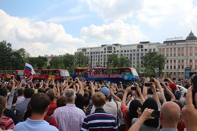 Сборная России - чемпион мира 2014. Парад в Москве