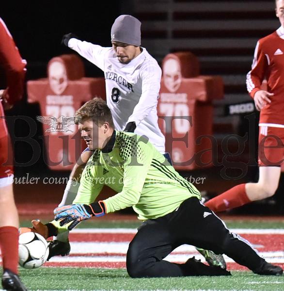 95023 Slippery Rock vs Mercer District 10 boys soccer game at Slippery rock stadium