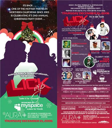 LICK VIP December edition @ Aura 12.21.06
