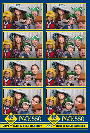 Cub Scout Pack 550 - Blue and Gold Banquet 2019