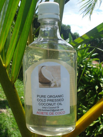 COCONUT OIL - Judy's Virgin • Cold-Pressed • Pure • Organic made by hand in the Tropics!