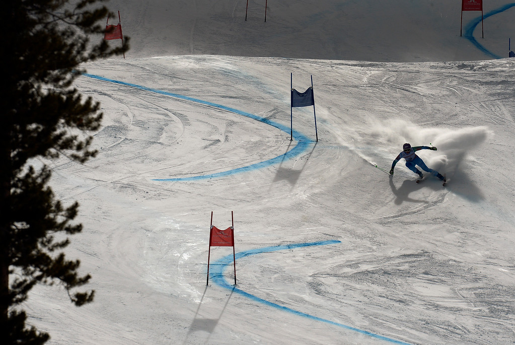 . BEAVER CREEK, CO - FEBRUARY 12: Tina Maze of Slovenia competes in the first run of the Ladies Giant Slalom event at the FIS Alpine World Ski Championships in Beaver Creek, CO. February 12, 2015. (Photo By Helen H. Richardson/The Denver Post)