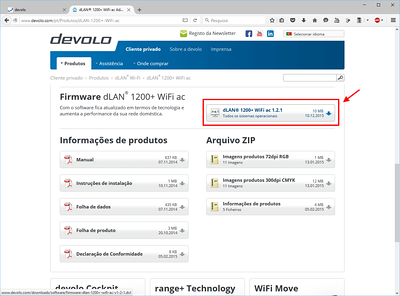 Novo Firmware para 1200+