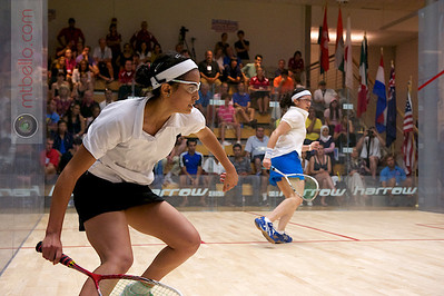 2011-07-23 Quarterfinals: Nour El Tayeb (Egypt) and Salma Hany (Egypt)