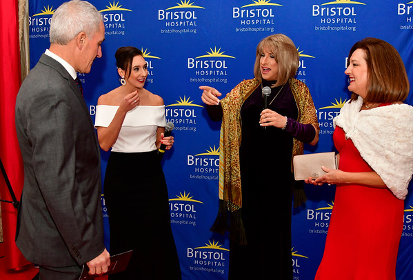 11/17/2018 Mike Orazzi | Staff Steve and Kim Masotti (far left and right) talk with Grace Gagnon and Tony DiPietro during Bristol Hospitals Annual Ball held at the Aqua Turf Club in Southington. All proceeds will benefit the Emergency Center expansion and renovation project.