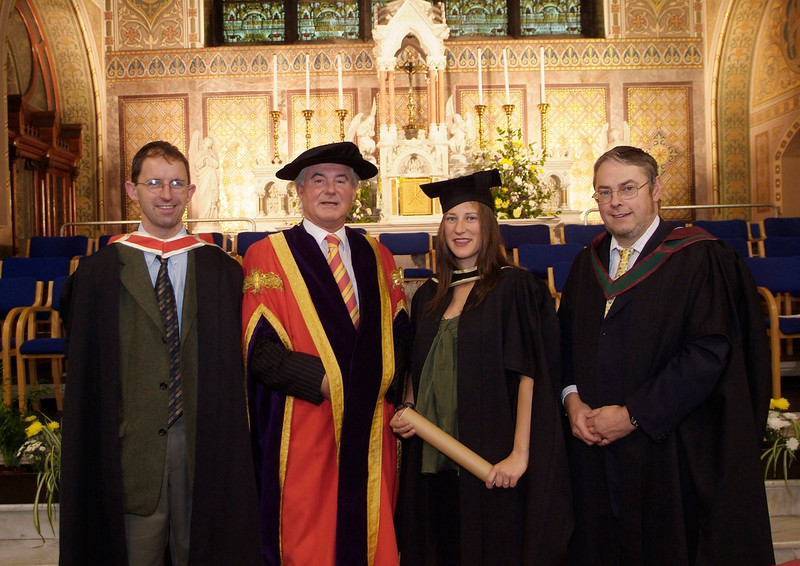 Teresita Dooley, Fenor South, Co. Waterford, pictured with from left: Sean Byrne, Prof. Kieran R. Byrne and John Maher after she graduated as Master of Business Studies at Waterford Institute of Technology. (pic-Photozone)