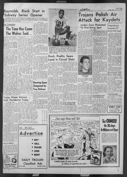 Daily Trojan, Vol. 44, No. 13, October 01, 1952