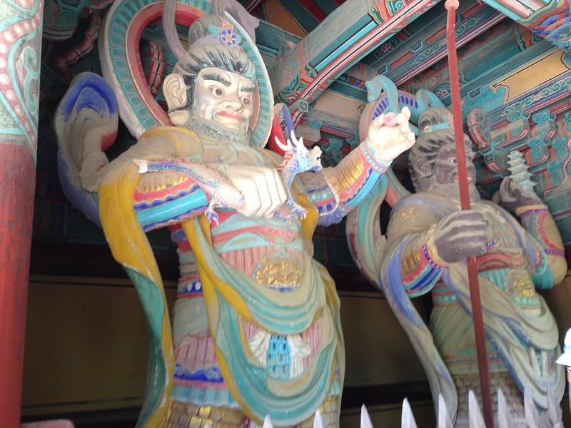 Bulguksa Temple guards, Gyeongju, South Korea - Leslie Rowley S95