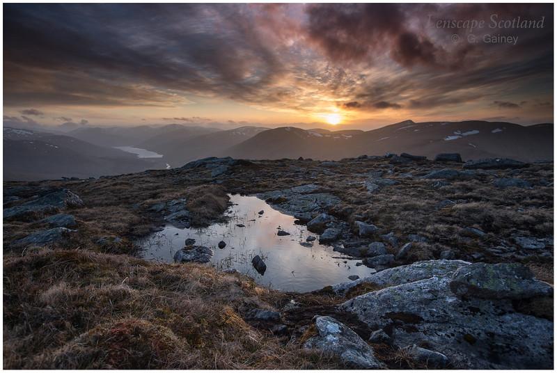 Loch Lyon and Stuc an Lochain, sunset