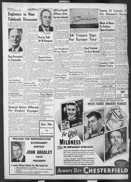 Daily Trojan, Vol. 42, No. 135, May 22, 1951